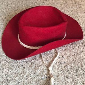 Eddy Bros Red cowboy/cowgirl costume hat